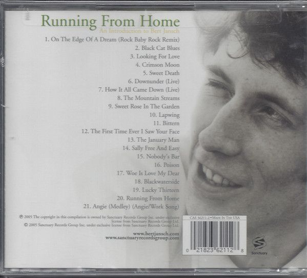 <em>Running From Home: An Introduction To Bert Jansch</em> back cover