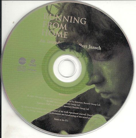 <em>Running From Home: An Introduction To Bert Jansch</em> CD front