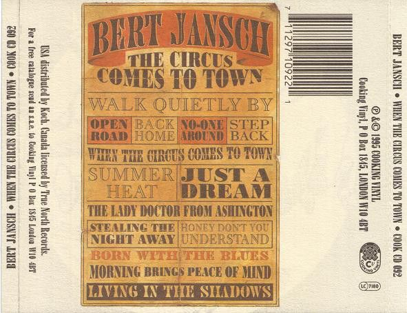<em>When The Circus Comes To Town</em> back cover