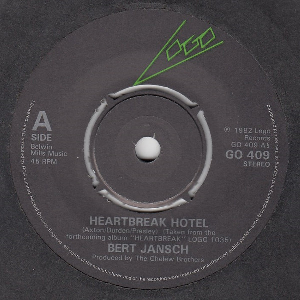 Bert Jansch | Records | Heartbreak Hotel cover