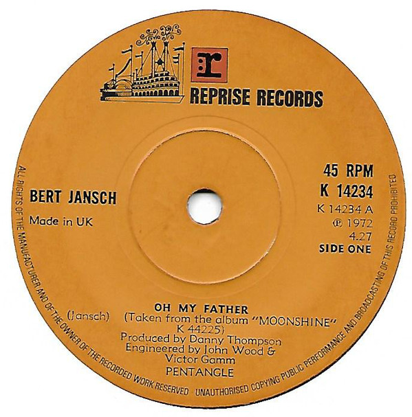 Bert Jansch | Records | Oh My Father cover